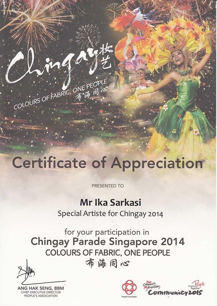 chingay 2014 special artist ika sarkasi batik